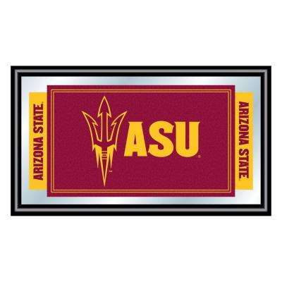Arizona State University 15 in. x 26 in. Black Wood Framed Mirror