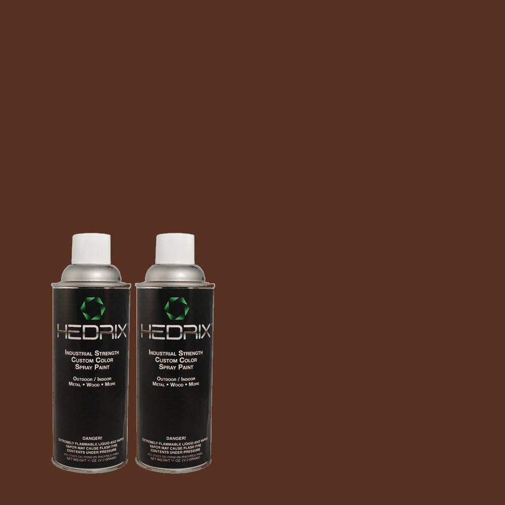 Hedrix 11 oz. Match of ECC-43-3 Chaparral Low Lustre Custom Spray Paint (2-Pack)