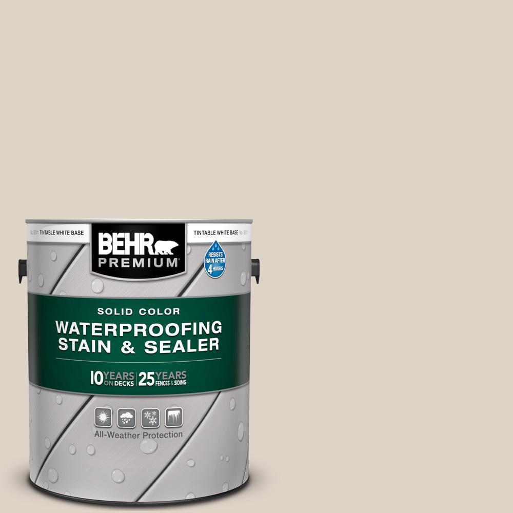 BEHR Premium 1 gal. #ECC-43-1 Sonoran Sands Solid Color Waterproofing Exterior Wood Stain and Sealer
