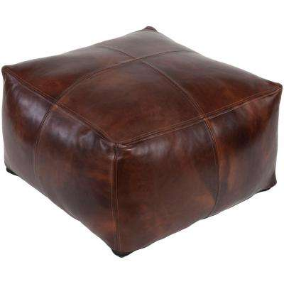Piers Dark Brown Accent Pouf