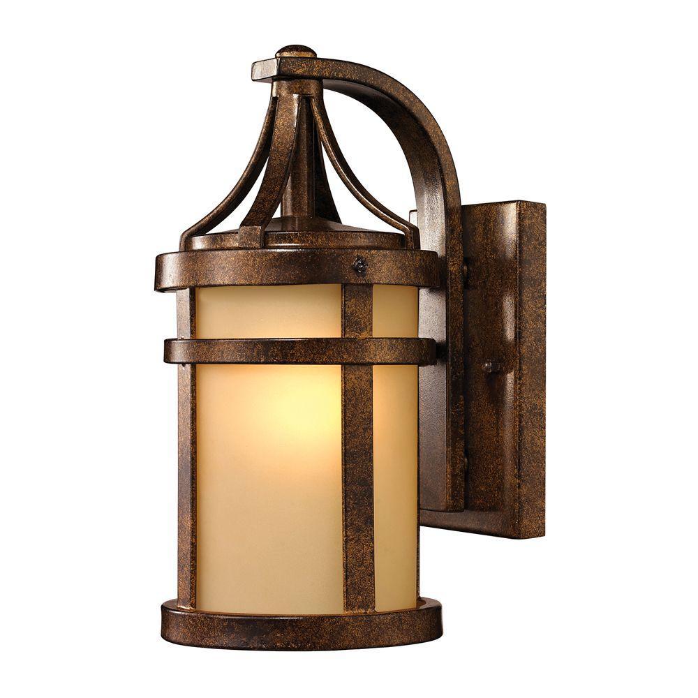 Cupertino Collection 1-Light Hazelnut Bronze Outdoor Sconce