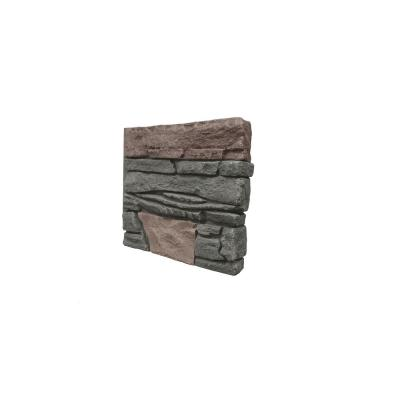 Stacked Stone Keystone 12 in. x 12 in. Faux Stone Siding Sample