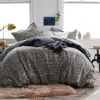 Brexton 3-Piece 200 Thread Count Cotton Percale Full Duvet Cover Set in Bark