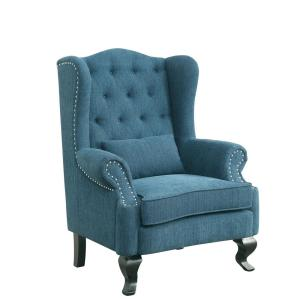 Willow traditional dark teal accent chair with ottoman cm - Dark teal accent chair ...