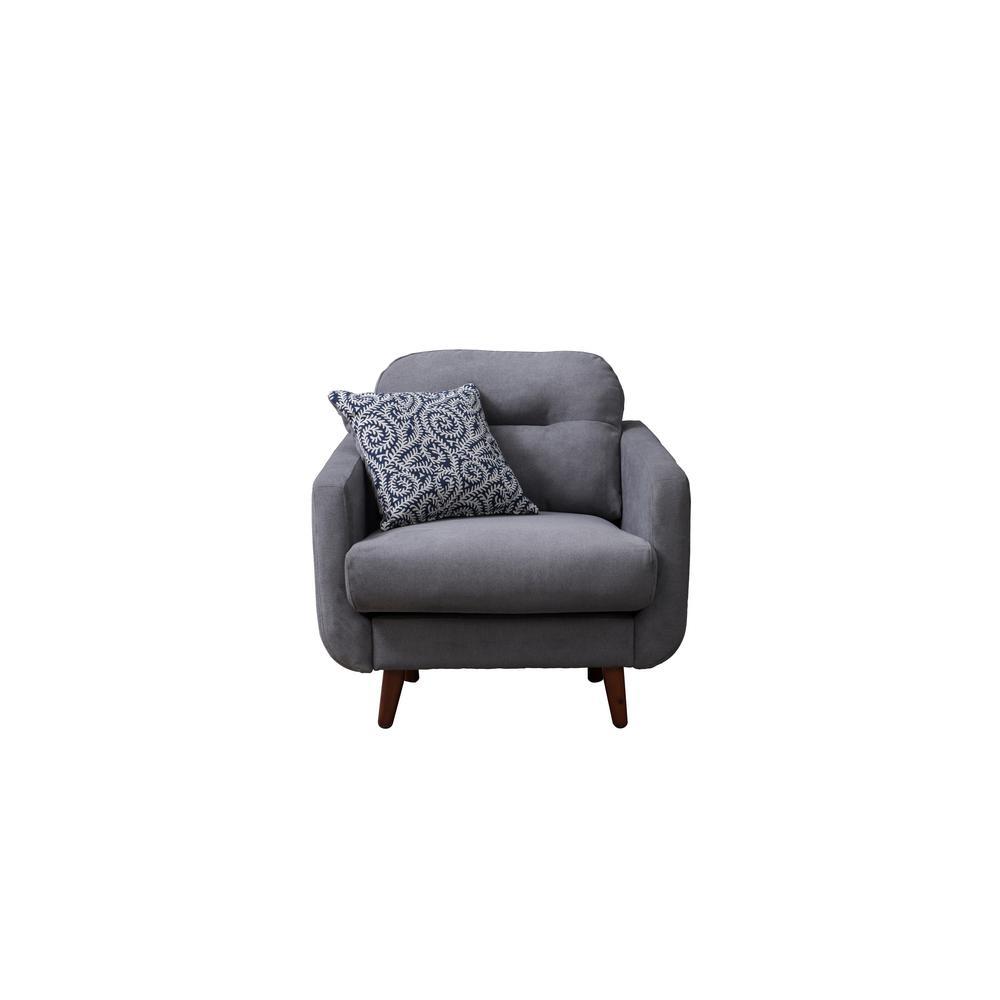 Crawford & Burke Glasgow Gray Linen Urban Track Arm Chair HCB168002CR-HD