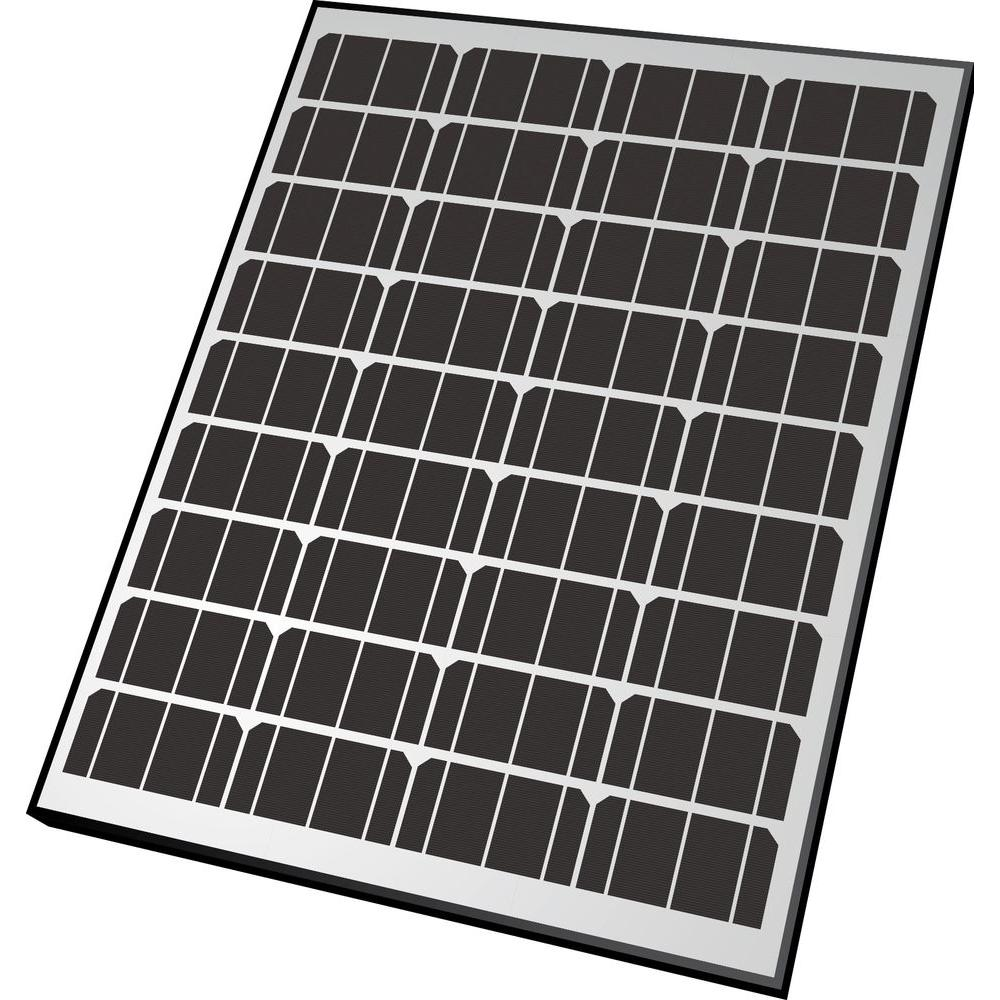 Nature Power 65-Watt Monocrystalline Solar Panel with Aluminum Frame for 12-Volt Charging