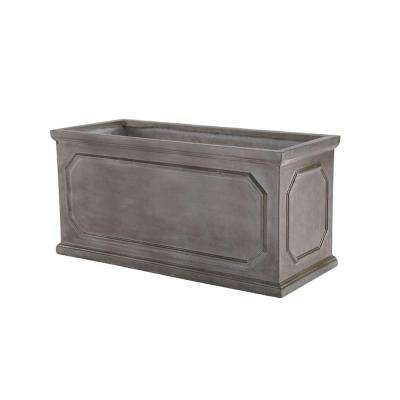 Chelsea 39 in. x 18 in. Gray Fibreclay Planter