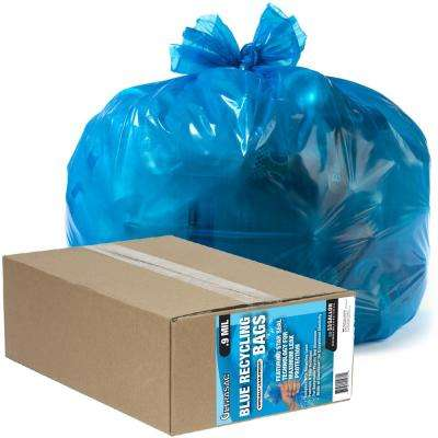 33 Gal. Recycling Blue Trash Bags (50-Count)