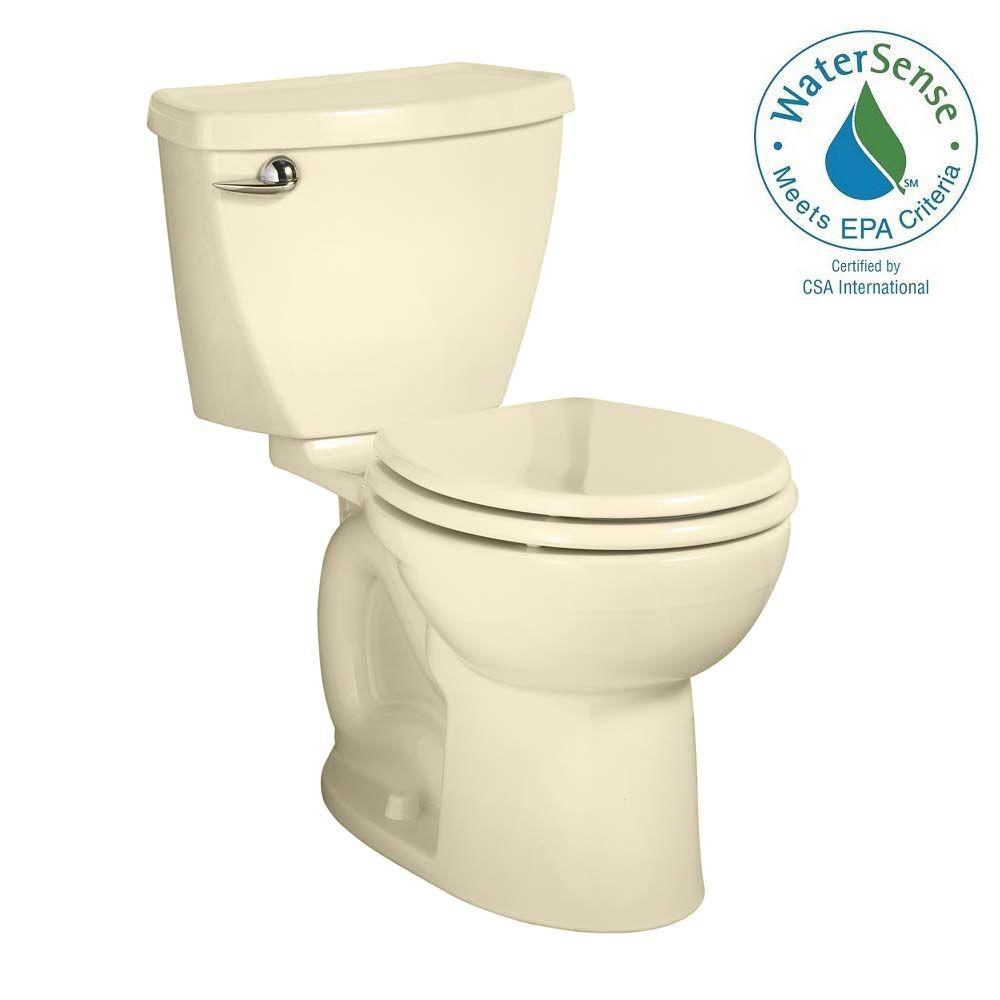 Cadet 3 Powerwash Tall Height 2-piece 1.28 GPF Round Toilet in Bone