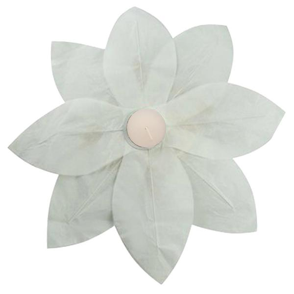 Lumabase White Floating Lotus Lanterns 6 Count 56006 The Home Depot