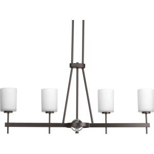 Progress Lighting Compass Collection 4-Light Antique Bronze Chandelier with Opal Etched... by Progress Lighting