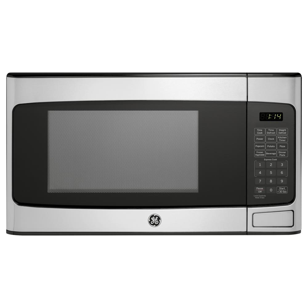 Ge 1 1 Cu Ft Countertop Microwave In Stainless Steel Jes1145shss