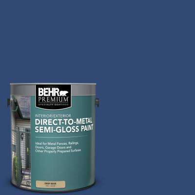1 gal. #S-H-580 Navy Blue Semi-Gloss Direct to Metal Interior/Exterior Paint