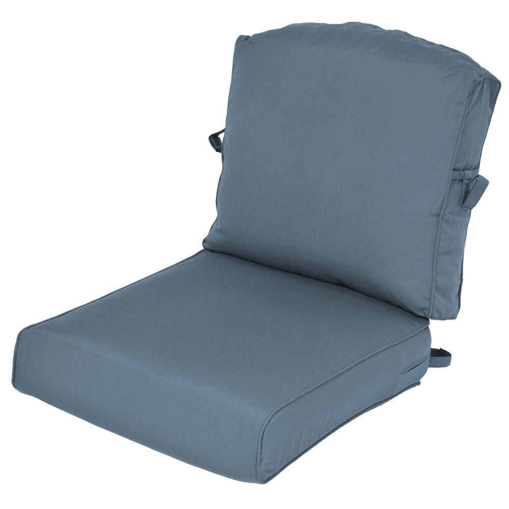 Merveilleux Universal Sunbrella Canvas Sapphire 2 Piece Deep Seating Outdoor Cushion  (2 Pack)