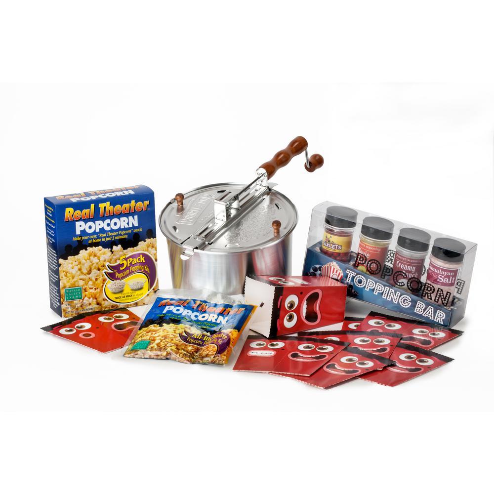 4-Piece Aluminum Popcorn Popper Set