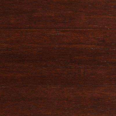 Take Home Sample - Strand Woven Dark Mahogany Click Lock Engineered Bamboo Flooring - 5 in. x 7 in.