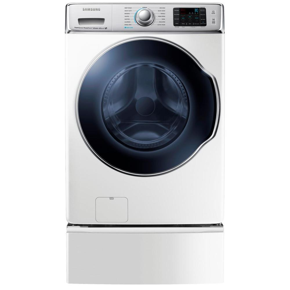 Samsung 30 in. W 5.6 cu. ft. High-Efficiency Front Load Washer with Steam in White