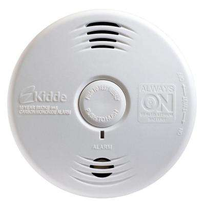 Worry Free 10-Year Sealed Lithium Battery Smoke and Carbon Monoxide Combination Alarm with Voice Warning