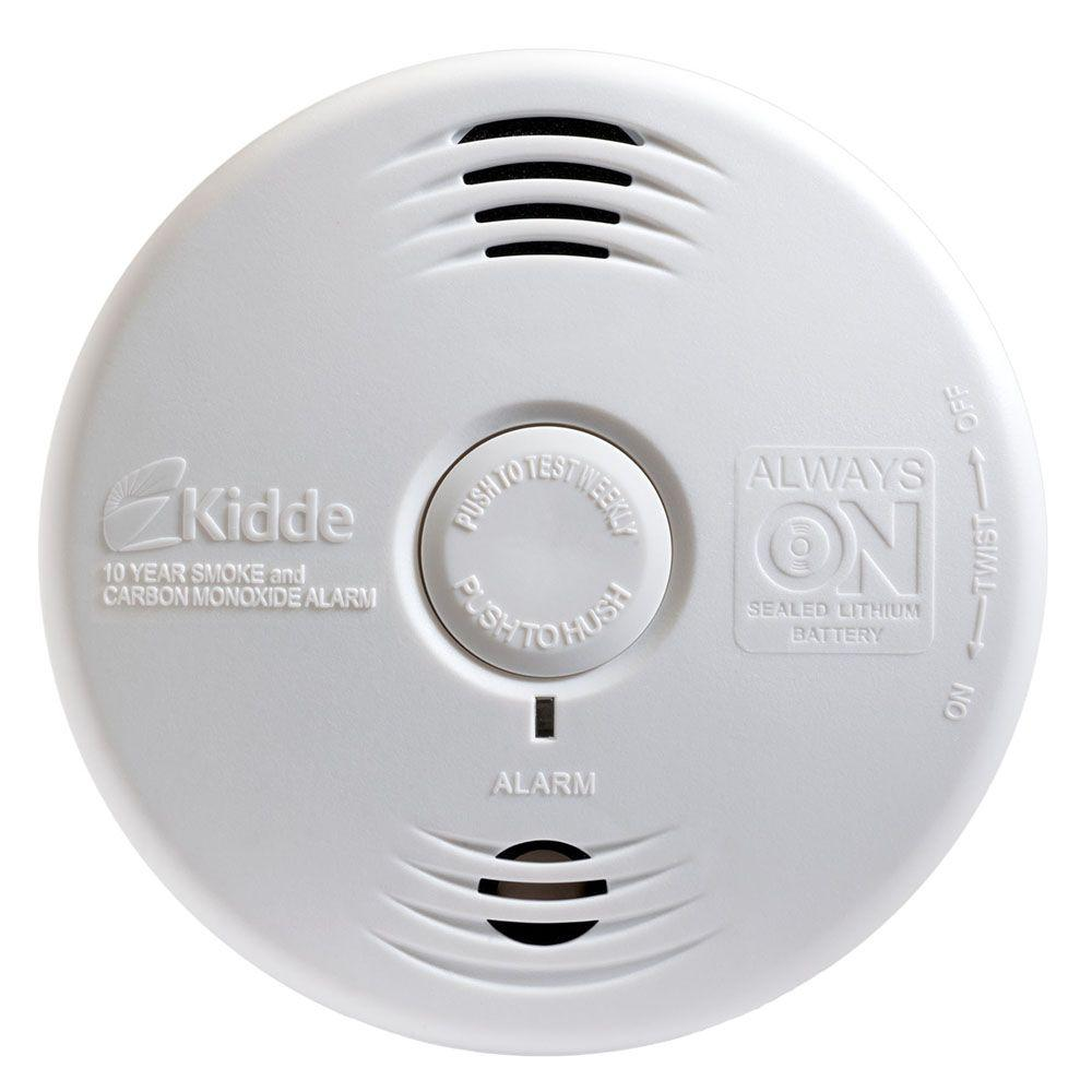 Kidde Worry Free 10-Year Sealed Battery Smoke and Carbon Monoxide  Combination Detector with Voice