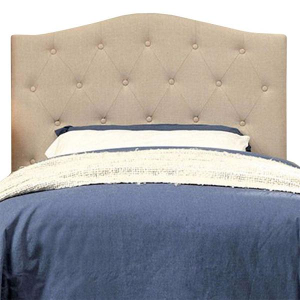 Elegant and Contemporary Ivory Twin Headboard