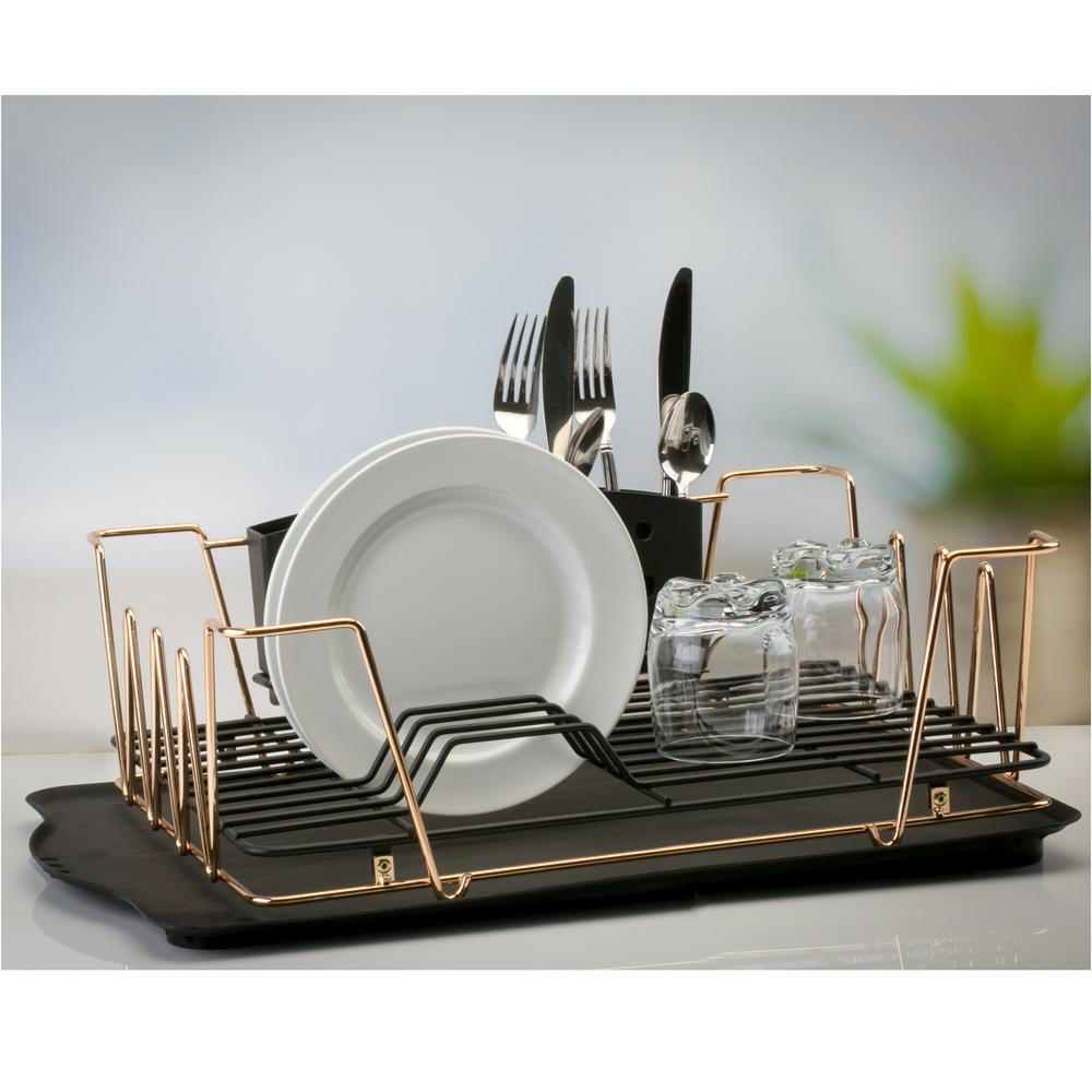 in sink dish rack macbeth contemporary 3 gold dish rack set m 30437