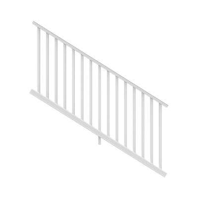 Transform 6 ft. Resalite Stair Rail Kit in Satin White with Square Balusters for 3.5 ft. Rail Height