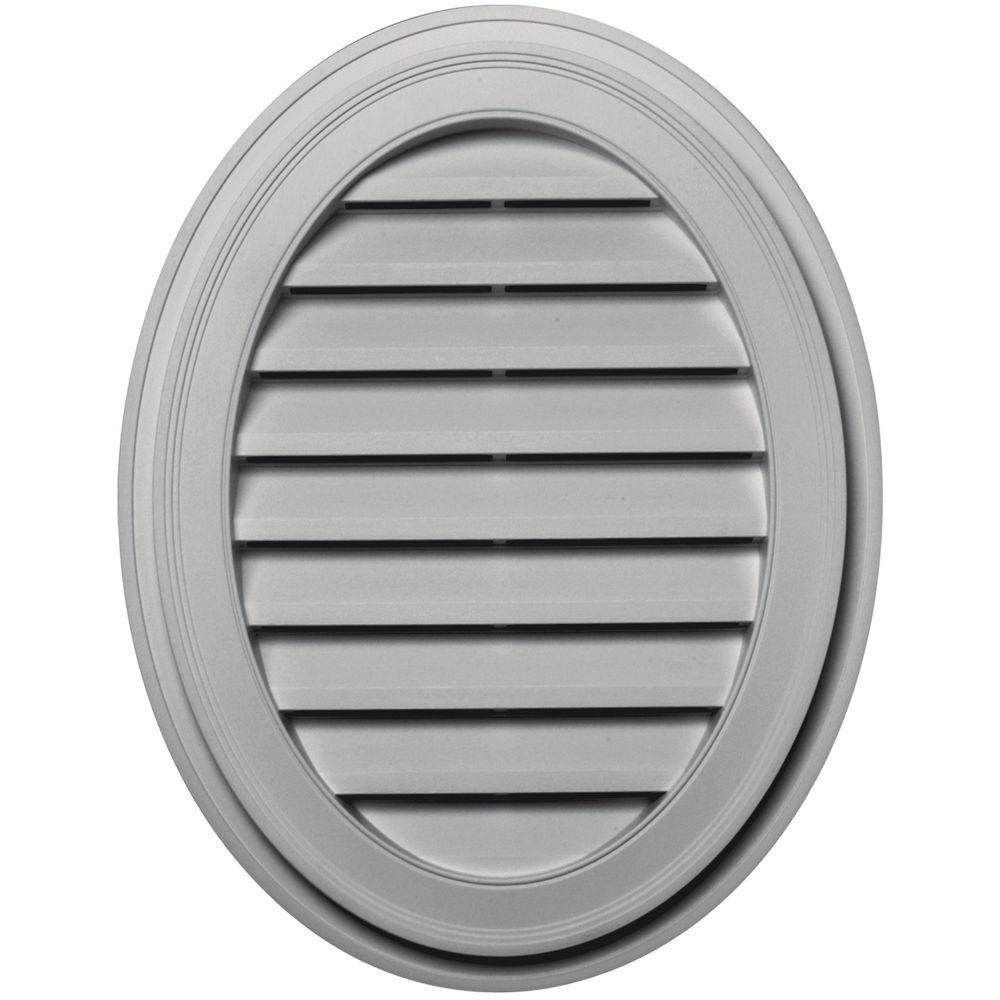 Builders Edge 27 in. Oval Gable Vent in Paintable