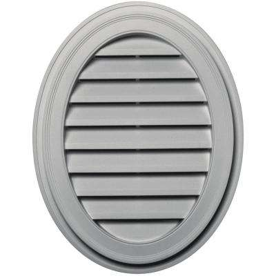 27 in. Oval Gable Vent in Paintable