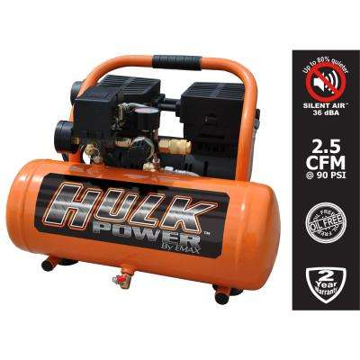 2 Gal. 1 HP Portable Electric-Powered Hotdog Silent Air Compressor