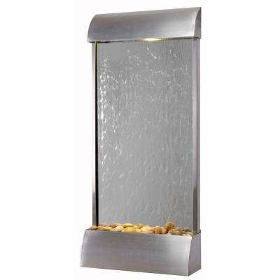 Waterville 42 in. Stainless Steel Floor/Wall Fountain