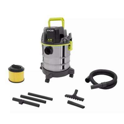 ONE+ 18V Cordless 4.75 Gallon Wet/Dry Vacuum (Tool Only) with Hose, Crevice Tool, Floor Nozzle, and Extension Wands