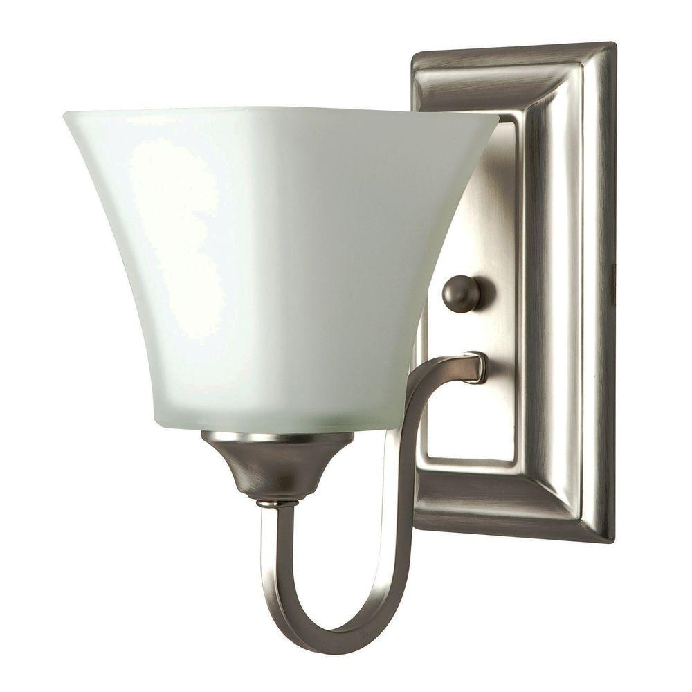 Square Lexington 1-Light Satin Nickel Wall Sconce