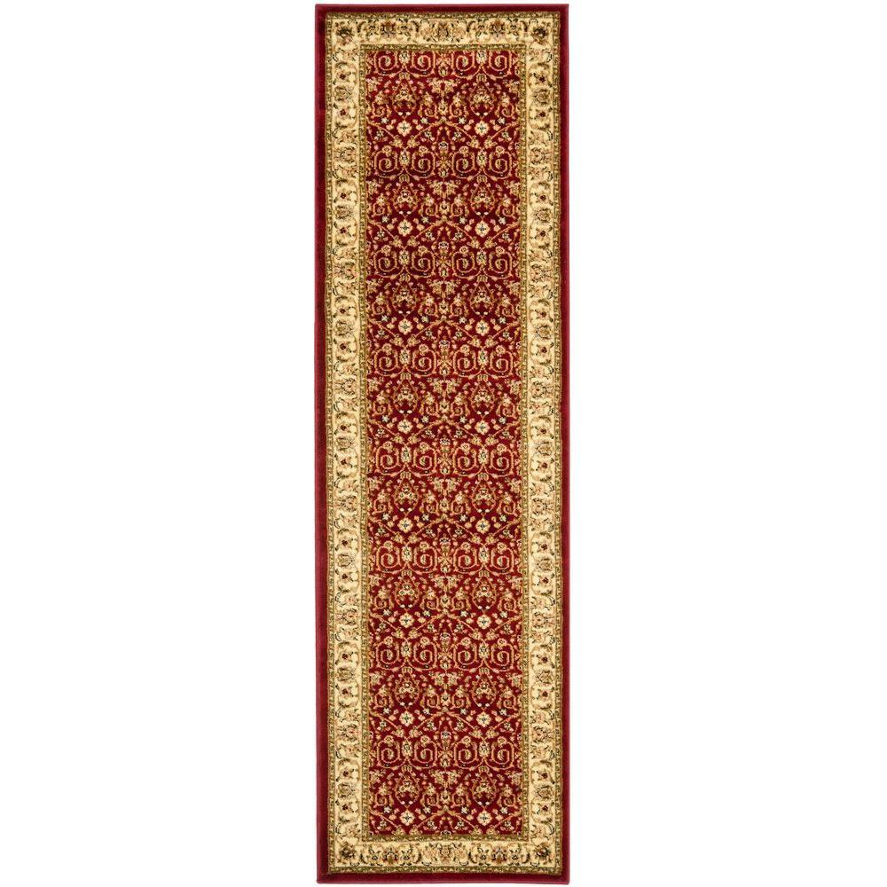 Lyndhurst Red/Ivory 2 ft. x 16 ft. Runner Rug
