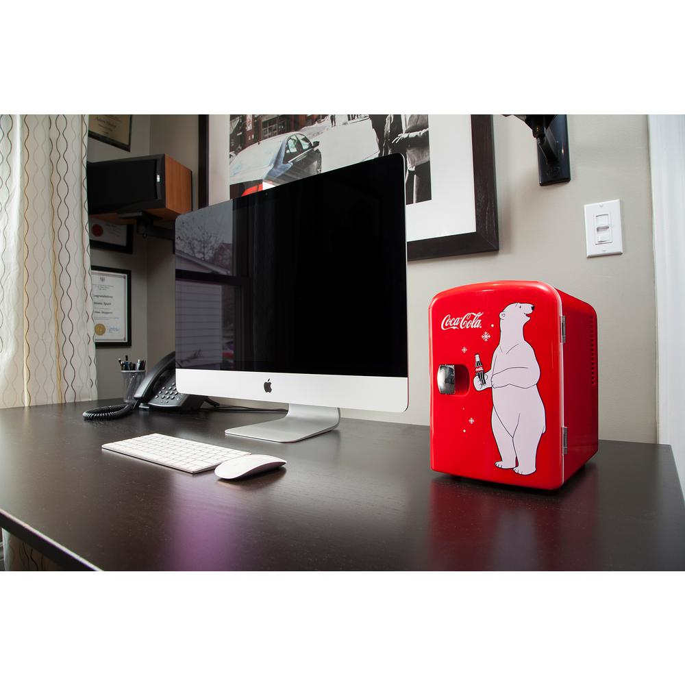 Koolatron 10.4 in. 6 (12 oz.) Mini Refrigerator in Red