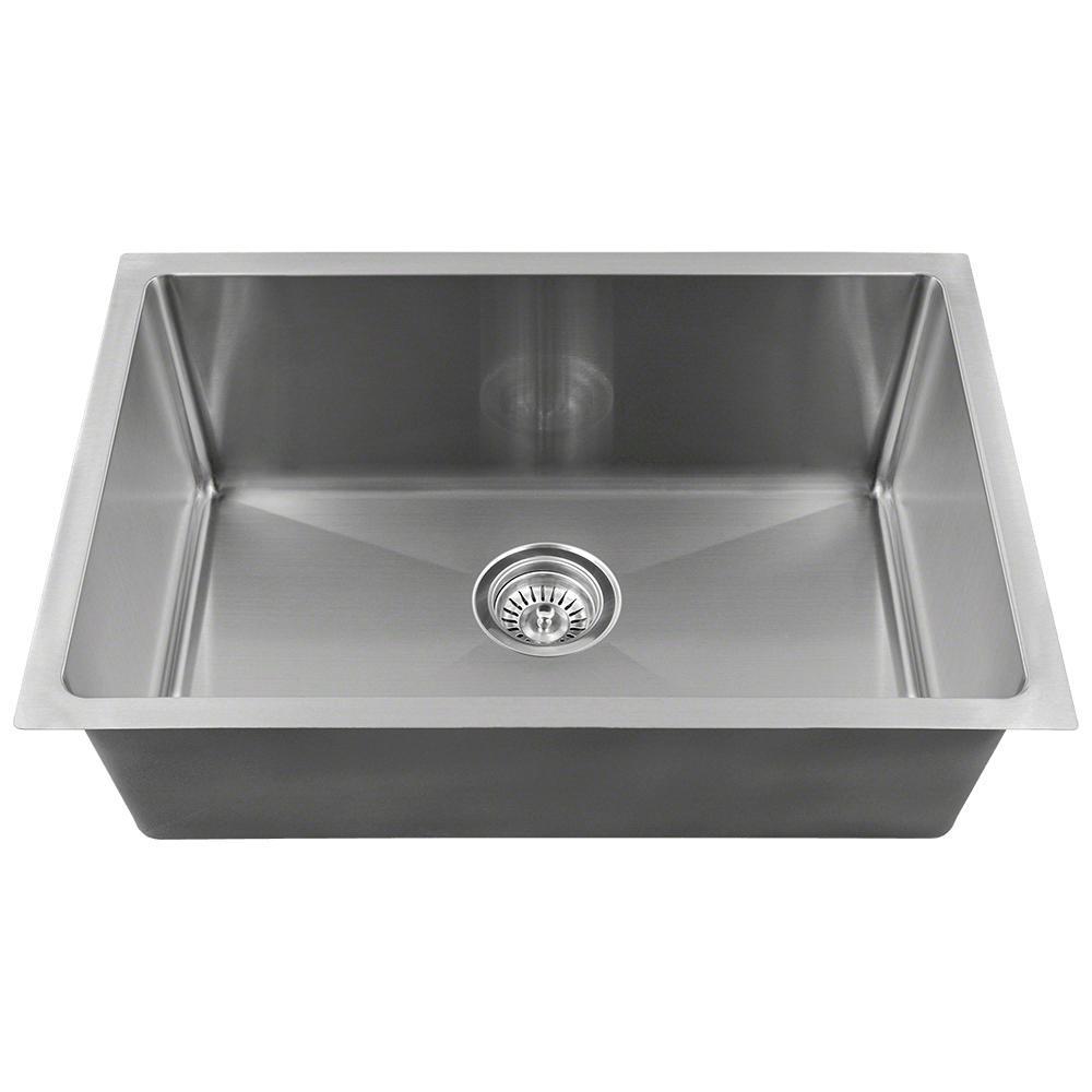Undermount Stainless Steel 18 in. Single Bowl Kitchen Sink in Stainless Steel