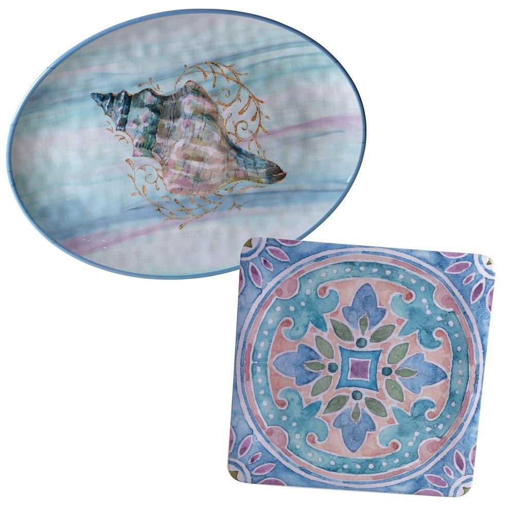 Ocean Dream 2-Piece Platter Set