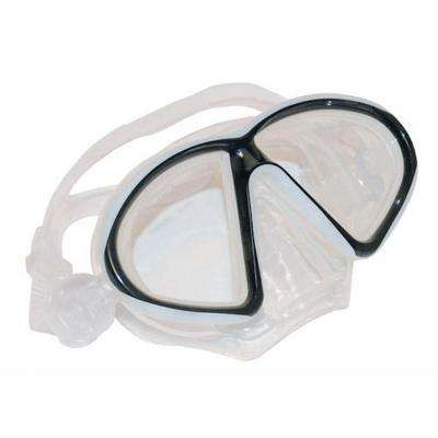 Medium Large Silicone Mask Clear and Black
