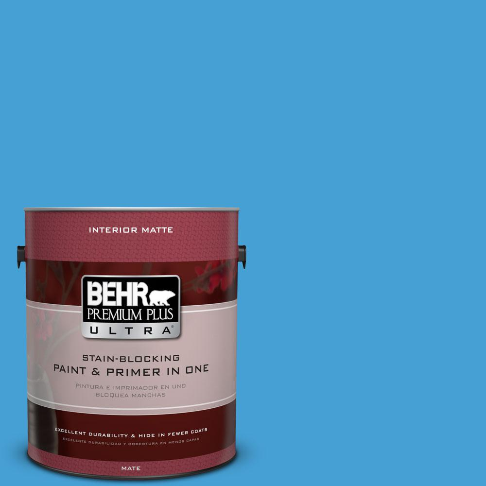 1 gal. #P500-5 Peaceful River Matte Interior Paint