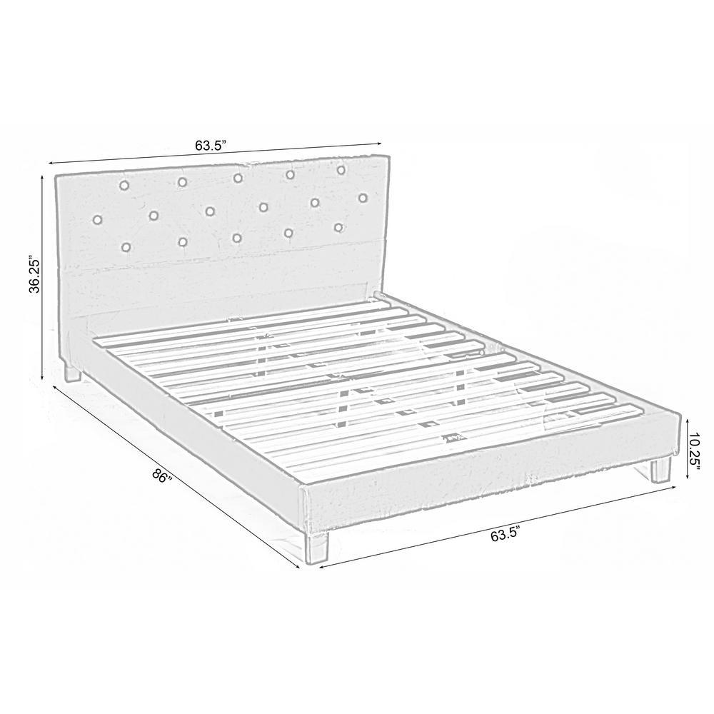 Blue Queen Size Wood Velvet Tufted, Queen Size Platform Bed Dimensions