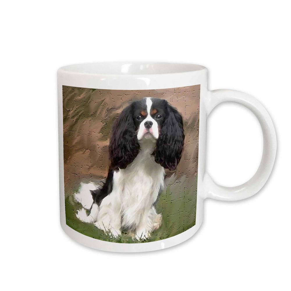 Dogs King Charles 11 oz. White Ceramic Cavalier Spaniel Mug