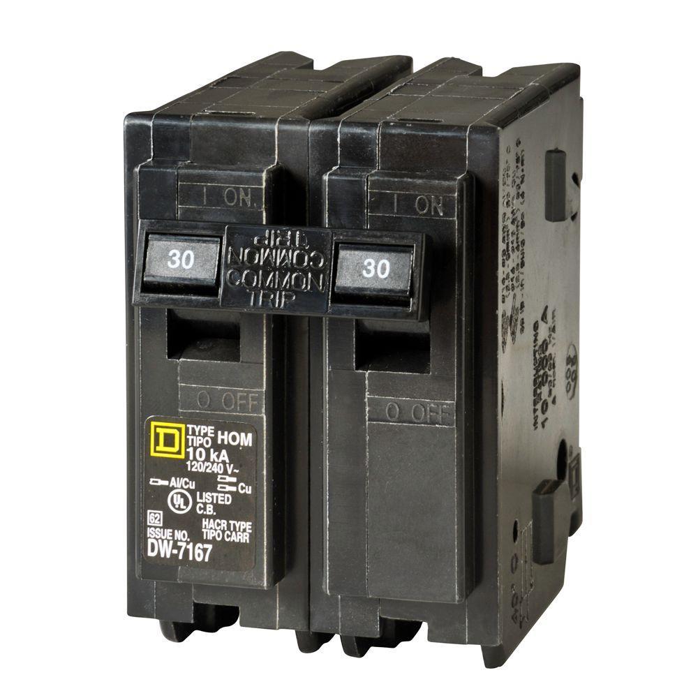 Square D HVAC Specific 30 AMP 2 Pole Breaker D801339P01R