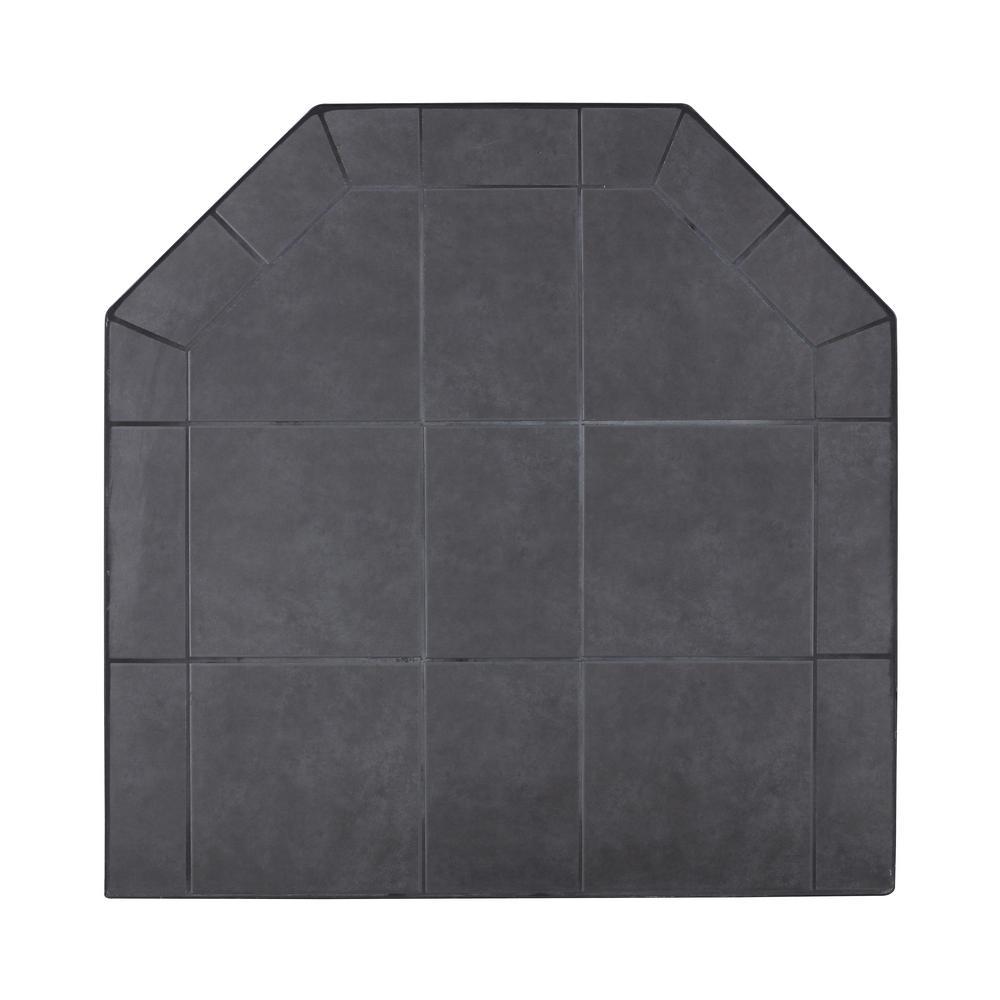 American Classics 40 in. Type 1 Black Jack Tile Hearth Pad
