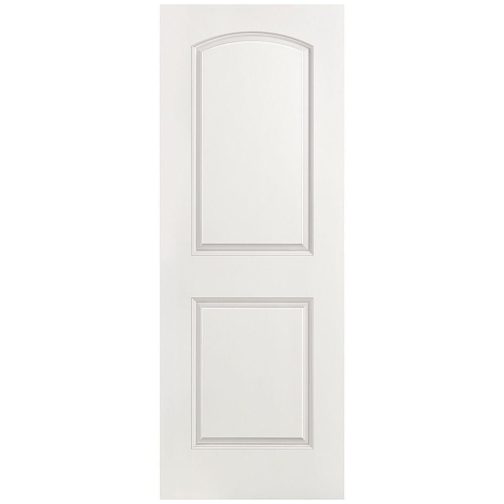 Merveilleux Roman 2 Panel Round Top Left Handed Hollow Core Smooth Primed Composite  Single Prehung Interior Door