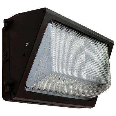 41-Watt Bronze Integrated LED Medium Wall Pack Light