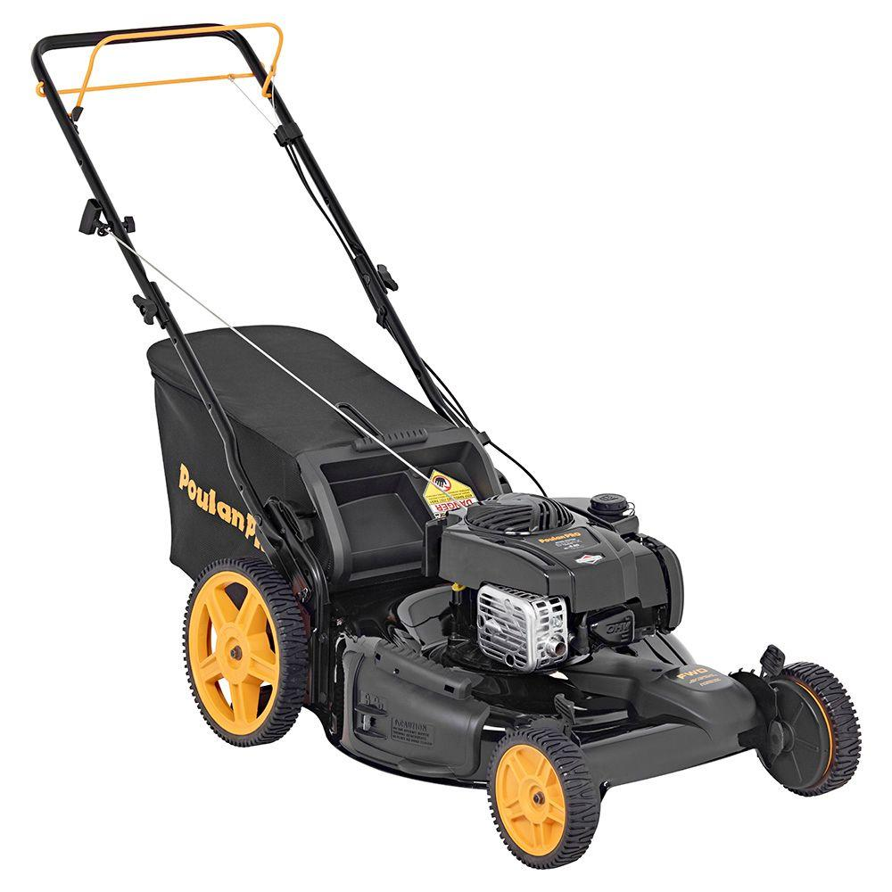 Poulan Pro 22 in. 150cc Briggs & Stratton 3-n-1 Front-Wheel Drive Gas Walk Behind Self Propelled Lawn Mower