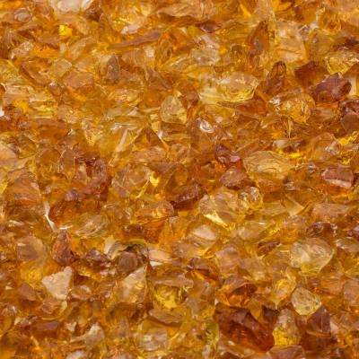 1/4 in. 25 lb. Chestnut Landscape Fire Glass
