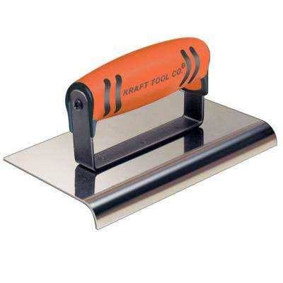 6 in. x 4 in. Stainless Steel Hand Edger with Wood Handle