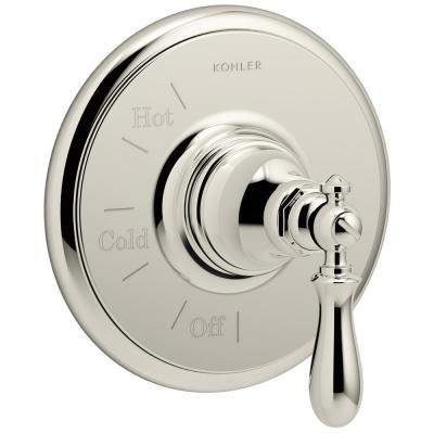 Artifacts 1-Handle Wall-Mount Tub and Shower Faucet Trim Kit in Polished Nickel (Valve not included)