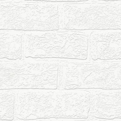 Urban Brick White Wallpaper Sample