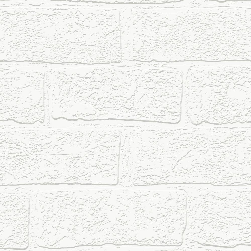 Graham & Brown Urban Brick White Wallpaper Sample 10016094